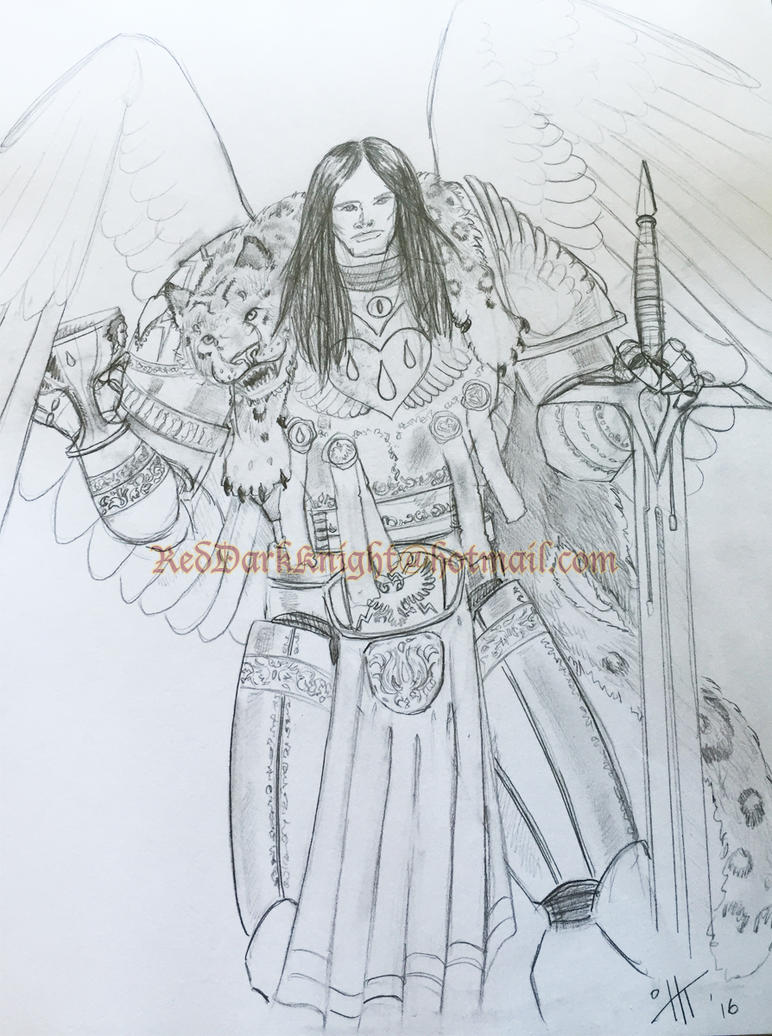 The Primarch Sanguinius by KreepingSpawn