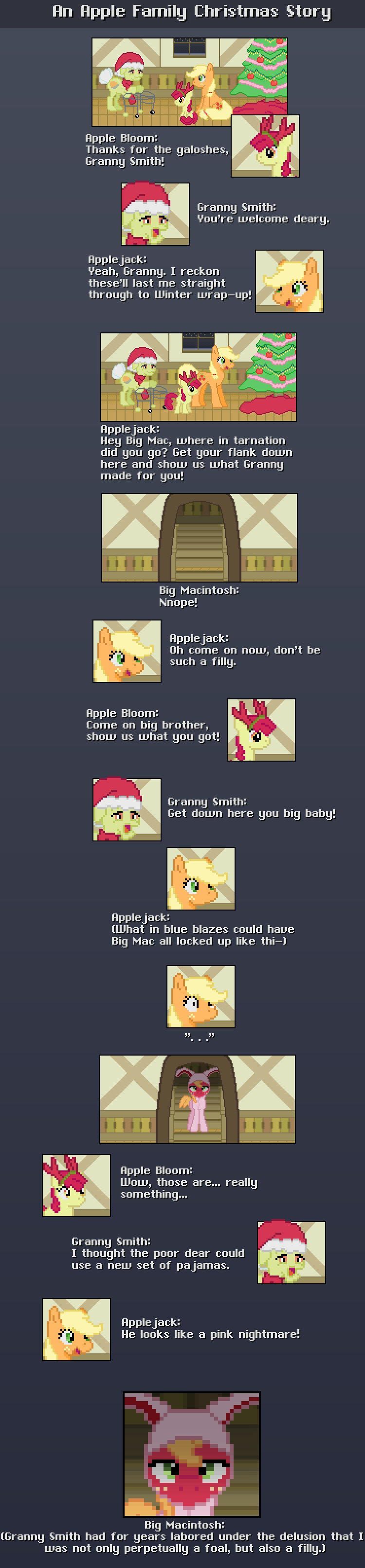 An Apple Family Christmas Story -COMIC- by Blue-Cup