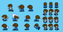 Azul Sprite Sheet - Lufia 2 Style by Blue-Cup