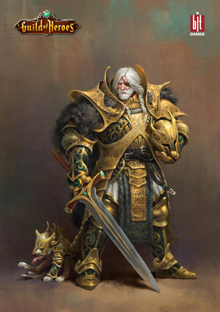 Guild general Ivanych and his war dog Polkan by mokhman