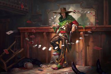 Mythgard. Bob 'Banzai' Vaquero by mokhman