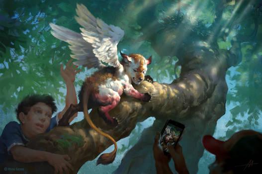 Mythgard. Simargl Hatchling