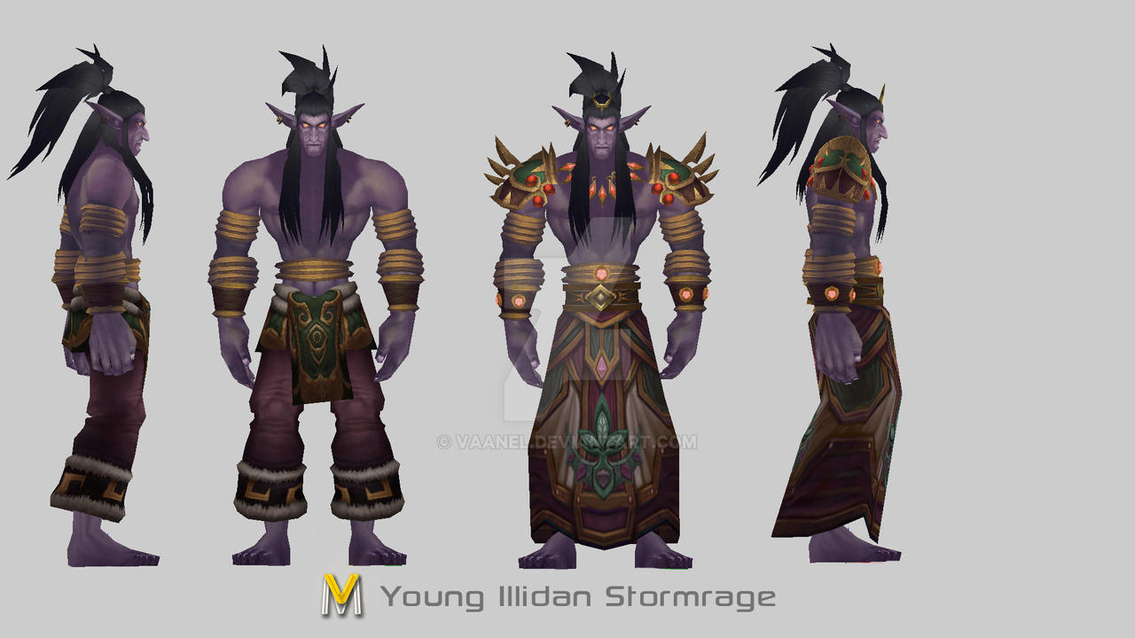 Young Illidan Stormrage by Vaanel