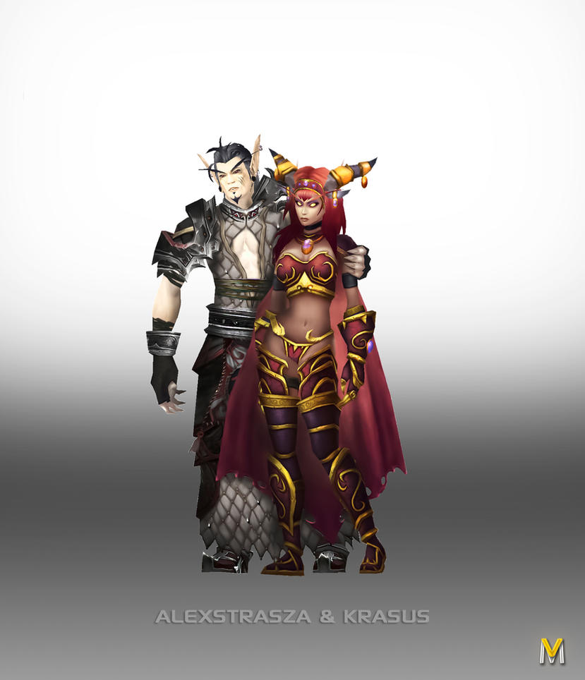 Alexstrasza and Krasus by Vaanel