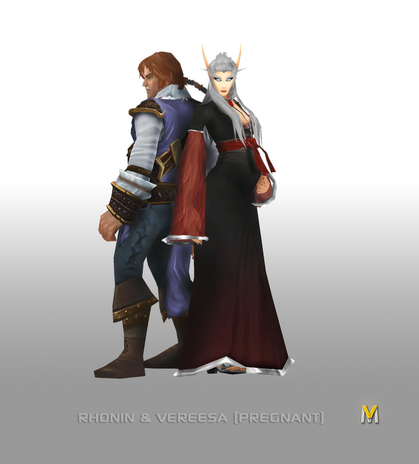 Rhonin and Vereesa by Vaanel