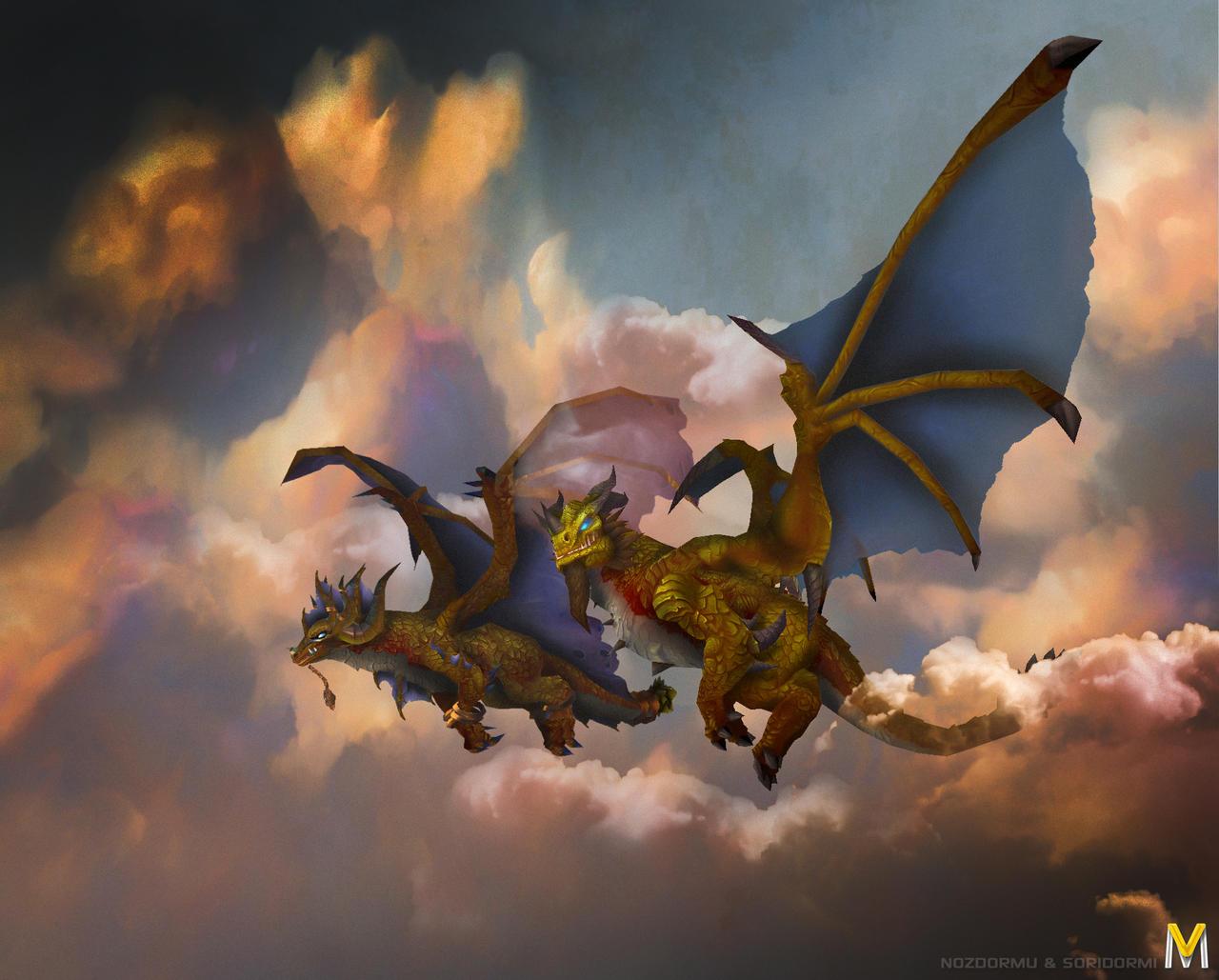 Nozdormu and Soridormi Dragon by Vaanel