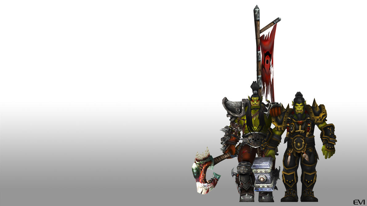 Wallpaper: Thrall and Grom by Vaanel