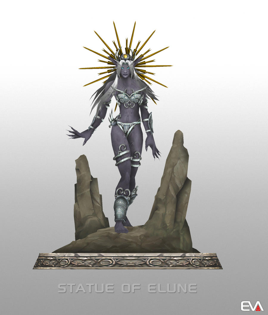 Statue of Elune by Vaanel