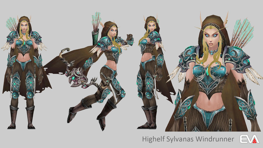 Detail HighElf Sylvanas Windrunner by Vaanel