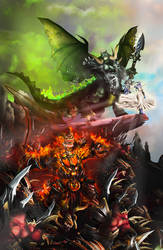 WotA Poster Zoom: Burning Legion by Vaanel