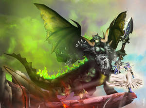 WotA Poster Zoom: Mannoroth and Azshara