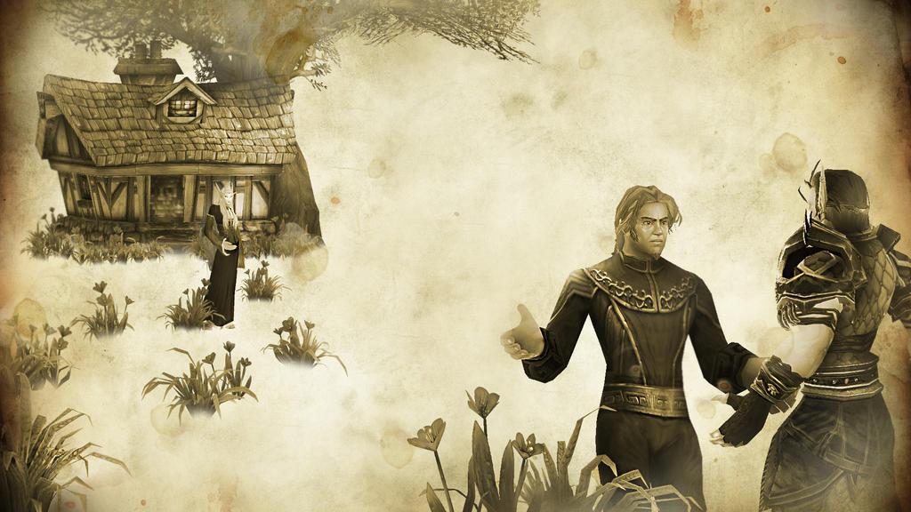 Rhonin's departure by Vaanel