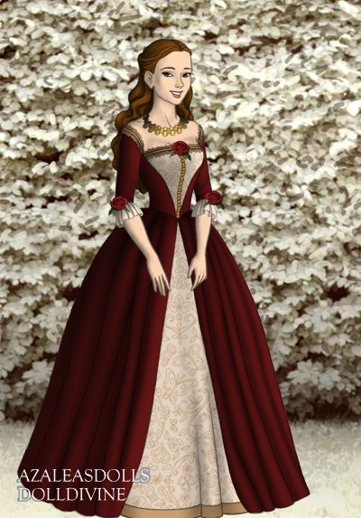 Belle's red Christmas gown by LadyAquanine73551 on DeviantArt