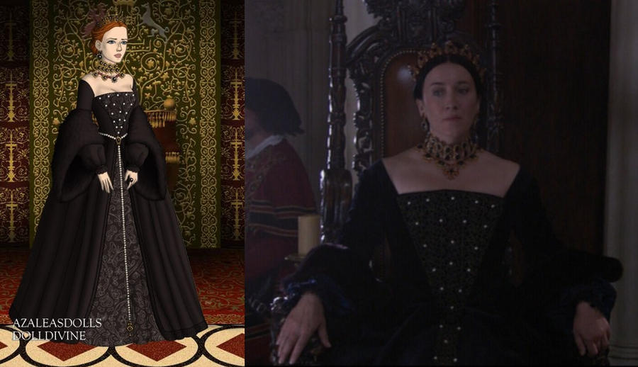 Catherine's black throne room gown by LadyAquanine73551
