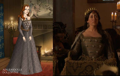 Catherine's gray gown