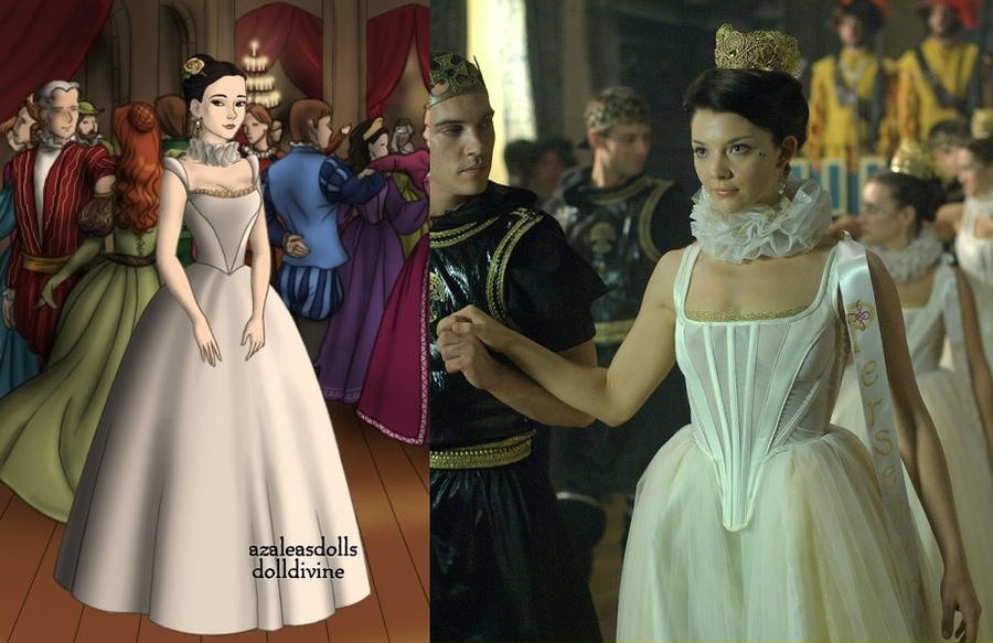 Anne Boleyn's white pageant dress by LadyAquanine73551