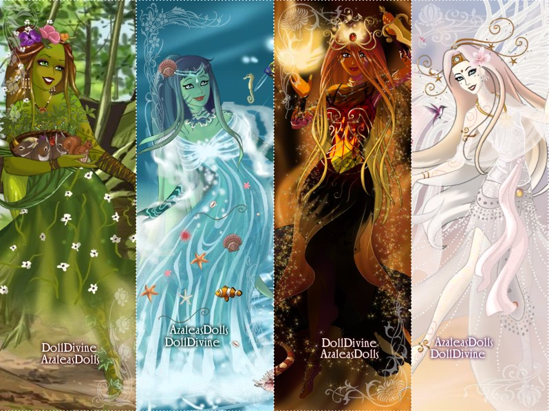 Four Elements Art : The four elements by ladyaquanine73551 on deviantart