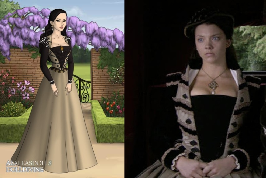 Anne's black and ivory dress by LadyAquanine73551