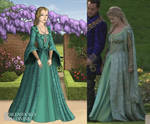 Jane's Green Proposal Gown