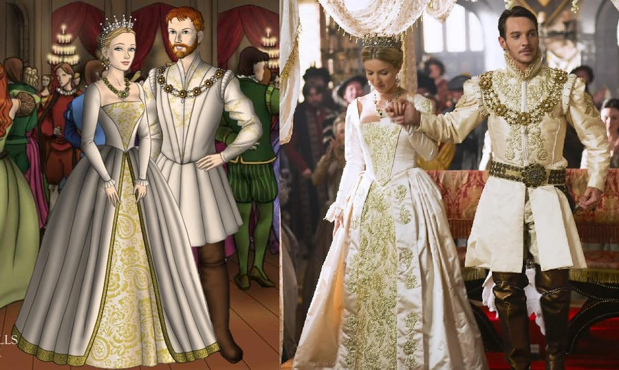 Jane 39 s wedding gown ver 3 by ladyaquanine73551 on deviantart for Tudor style wedding dress