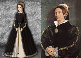 Catherine Howard's Black Gown Portrait by LadyAquanine73551