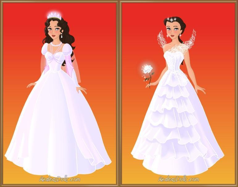 Katniss's wedding gown+book vs. movie