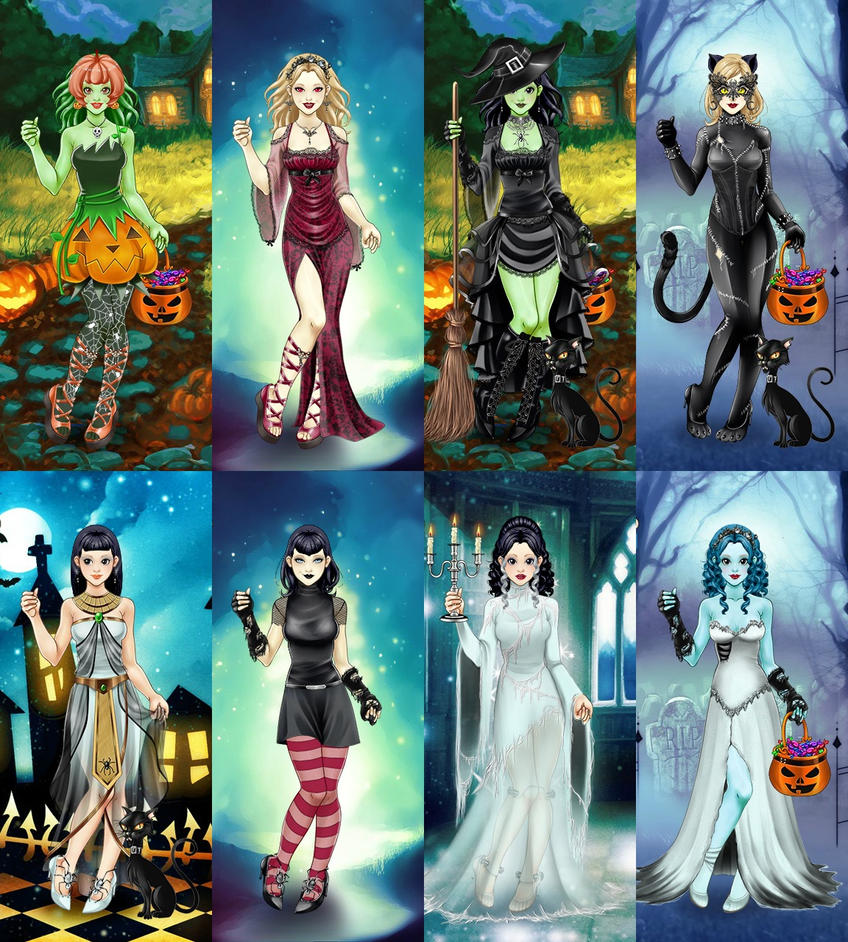 scary lily costume collage by ladyaquanine73551 on deviantart