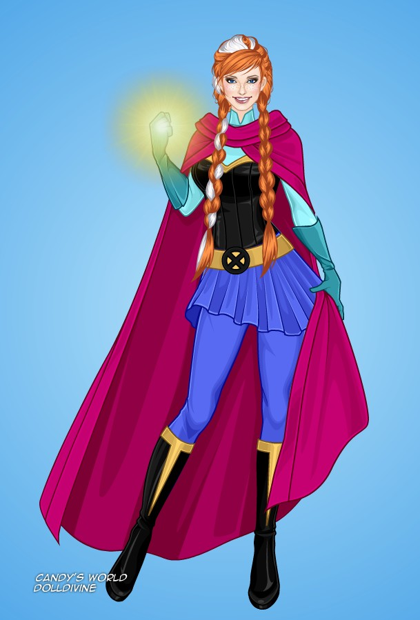 Princess Anna as a Superhero by LadyAquanine73551 on
