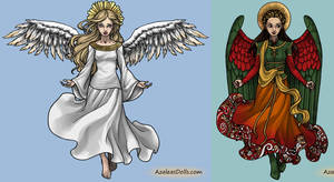 Christian Angel vs. Islamic Angel by LadyAquanine73551
