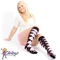 Smoken sexy hot-pink-socks-argyl
