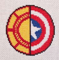 Arc Reactor x Cap's Shield Cross Stitch by chujo-hime