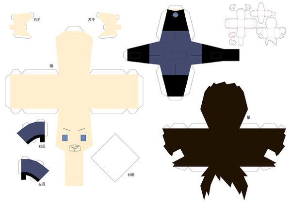 Tony Stark Papercraft Pattern by chujo-hime