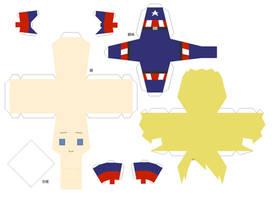 Captain America Papercraft Pattern by chujo-hime