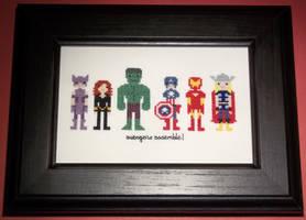 Avengers Assembly Cross Stitch by chujo-hime