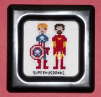 Superhusbands Pixel People Cross Stitch by chujo-hime