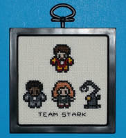 Team Stark Cross Stitch by chujo-hime