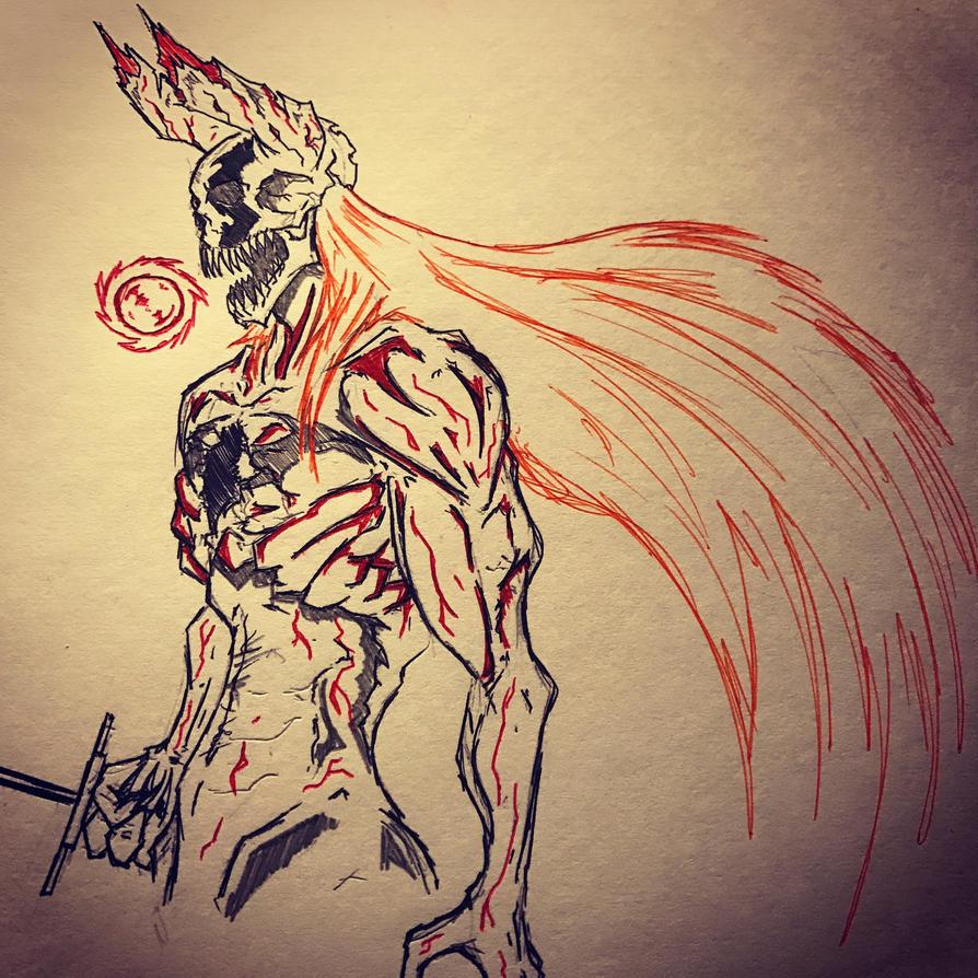 Ichigo Hollow Form Bleach Fanart by SIKComicz