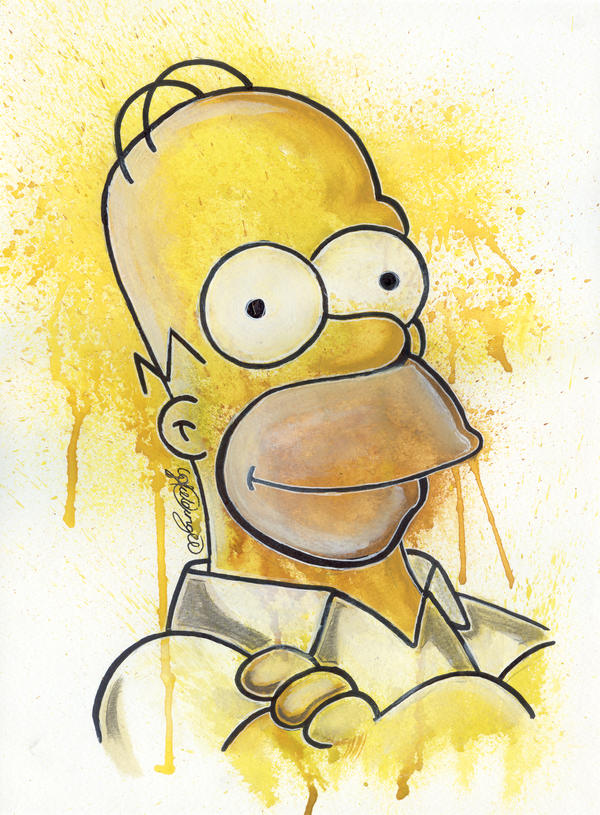 Homer by LukeFielding