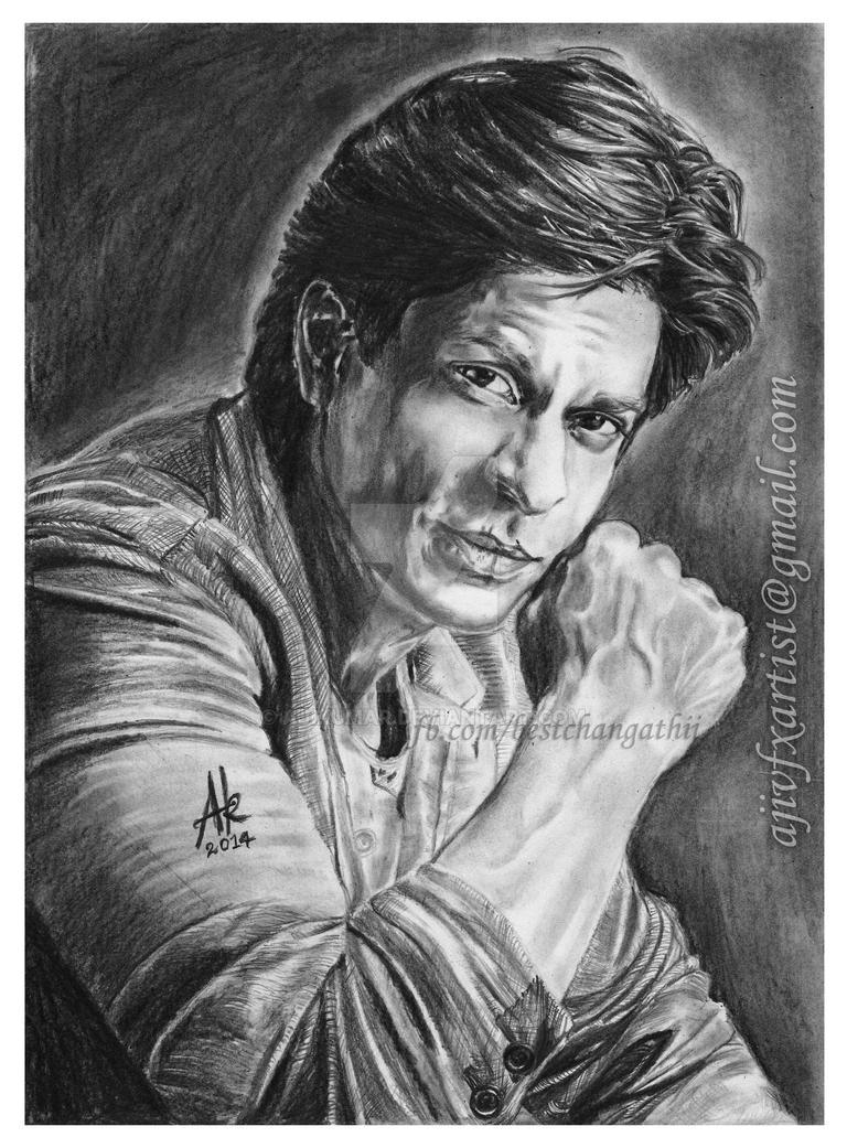 Sharukh khan pencil drawings by artist aji by ajikumar on deviantart