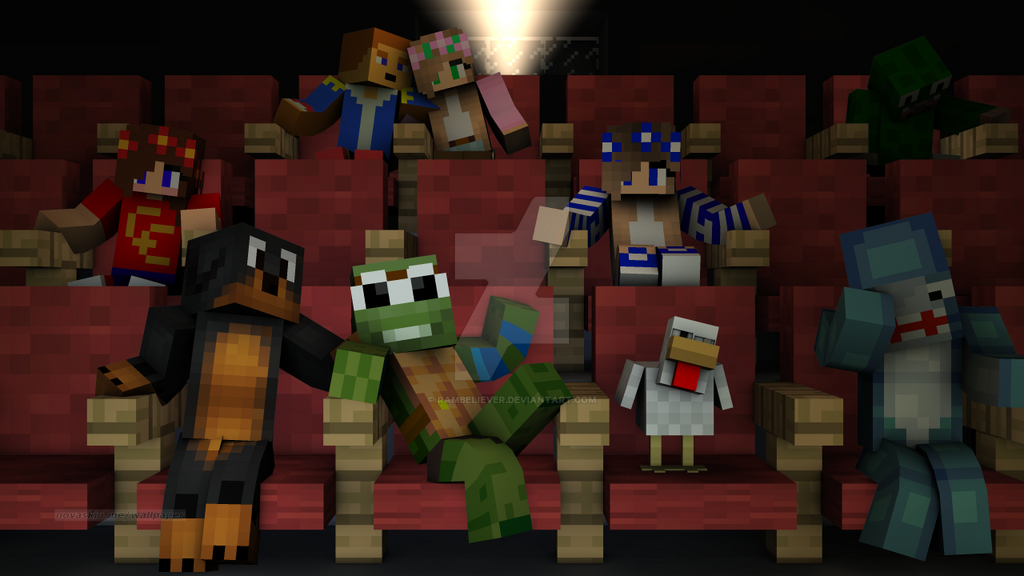 At the movies with my minecraft heroes by rambeliever on deviantart at the movies with my minecraft heroes by rambeliever publicscrutiny Gallery
