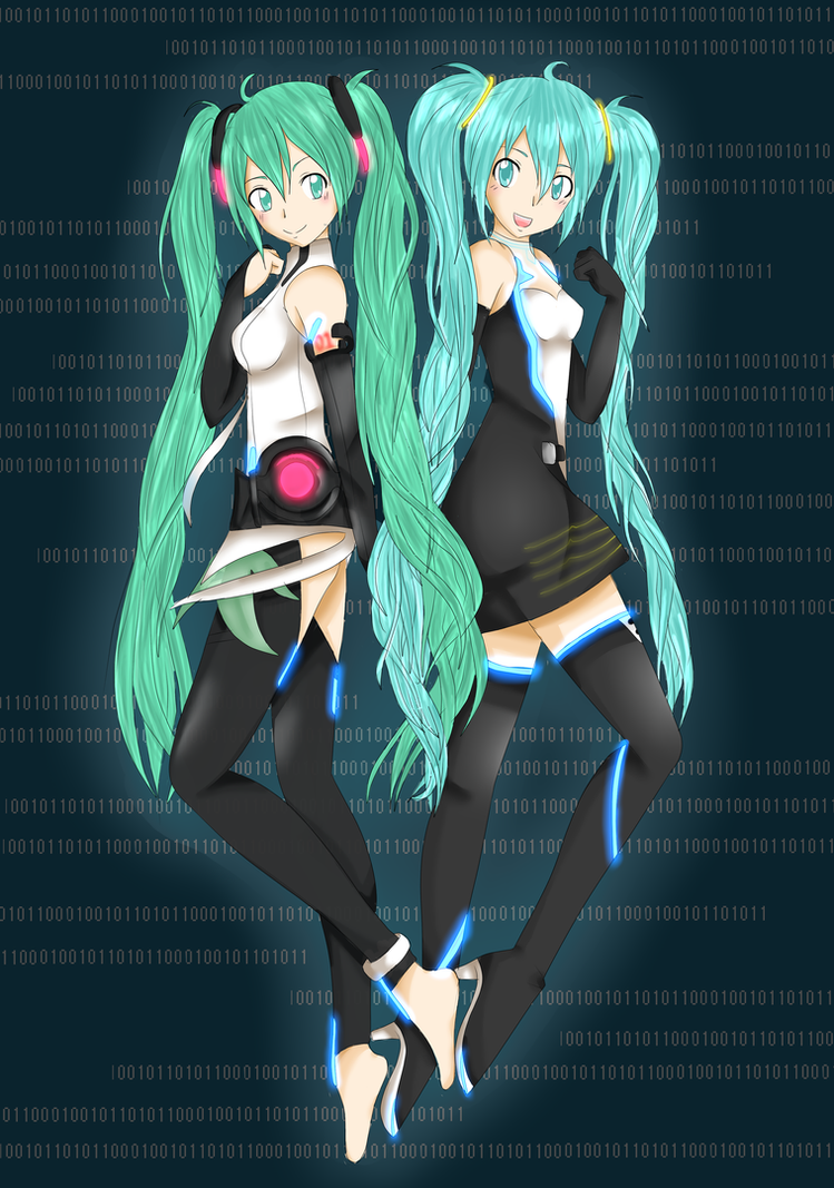 ::CC:: Append and Racing Miku by cazziecaz5