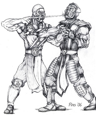 Sub Zero Vs Scorpion By Marcoapires On Deviantart