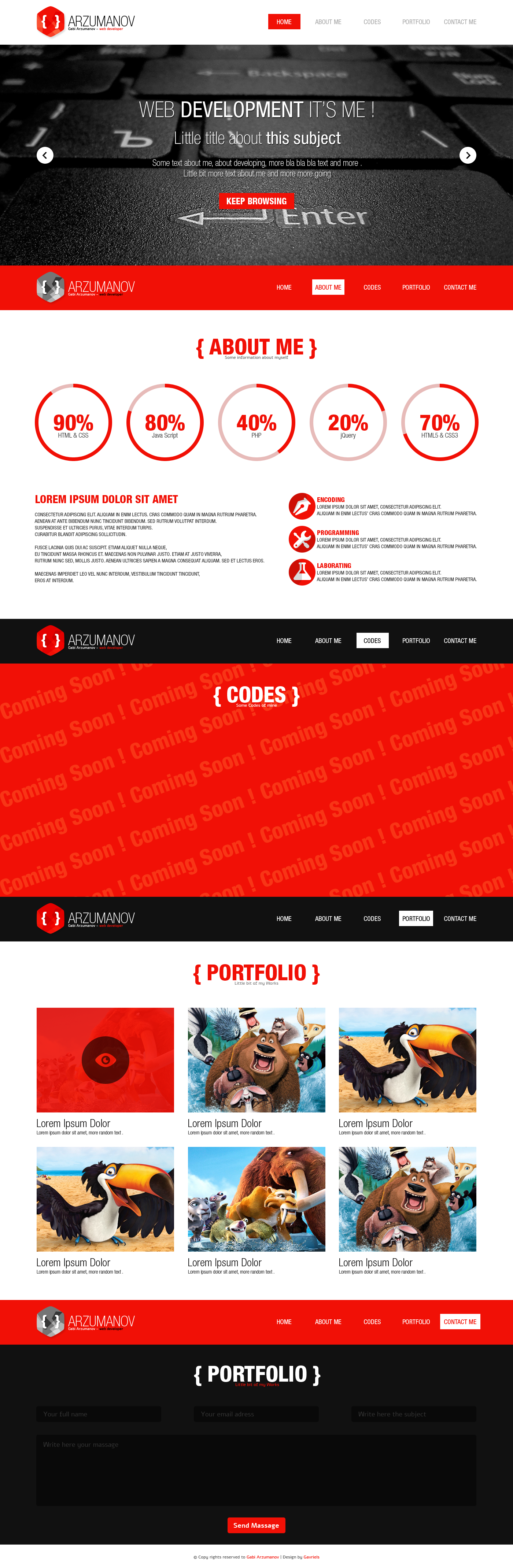Arzumanov - One page website by GavrielStudio on DeviantArt