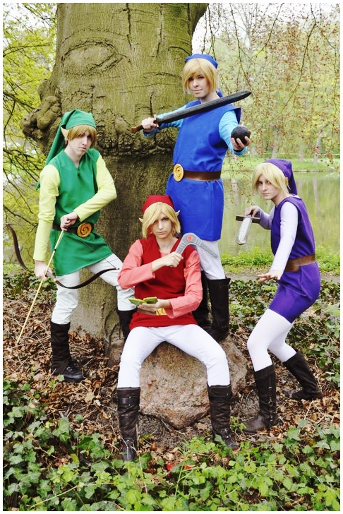 Link Four Swords Cosplay Four Swords Links by K...