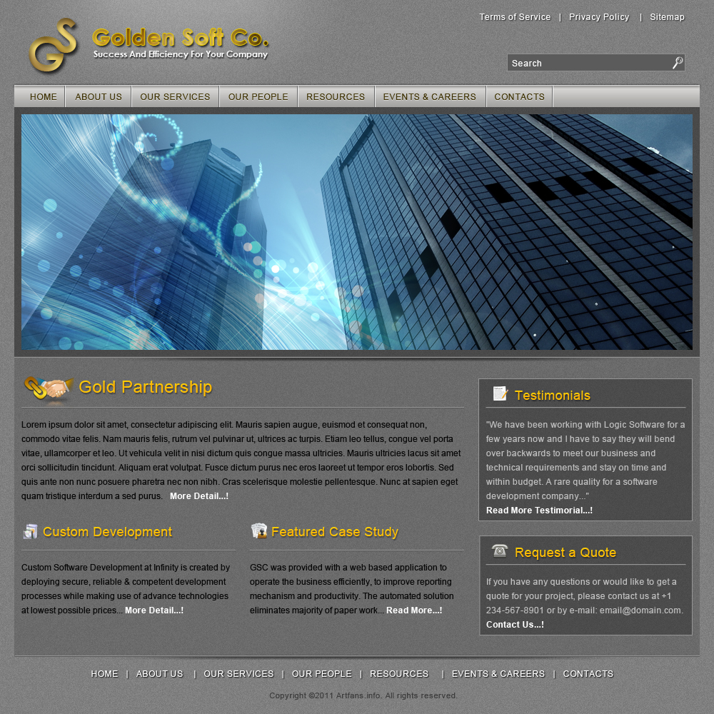 Elegant Business Web Template2 by Artfans