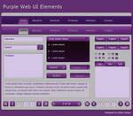 Purple Web UI Elements