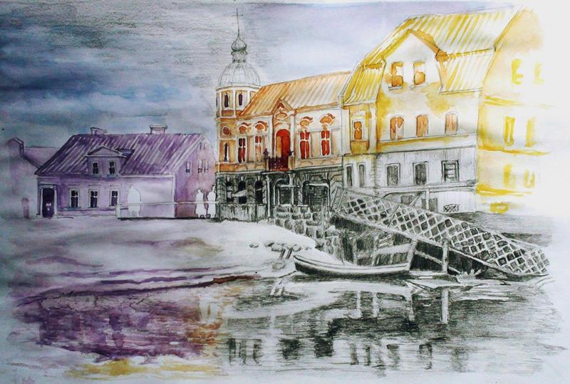 watercolor vs pencil by Arania-chan