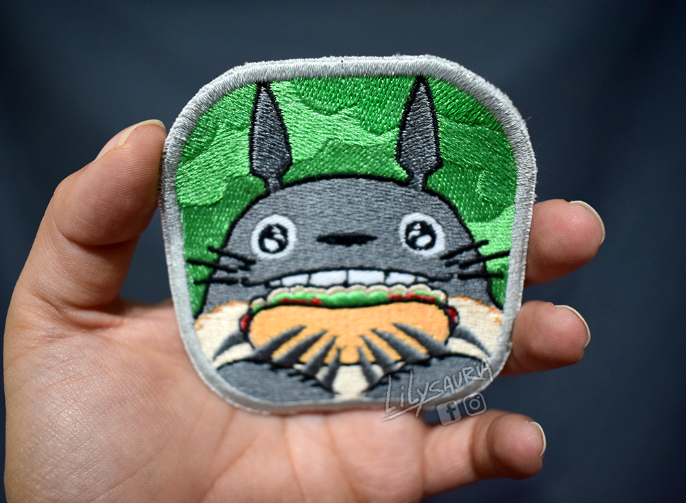 Hungry Totoro patch by Secret-Rendez-vous