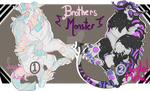 (OPEN) -FLAT SALE-BROTHERS MONSTER (1/2) by LisaBlack89-Adopt