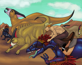 Dinosaur Cowboys by Namakoro